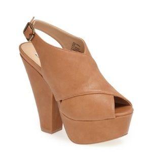 Steve Madden Galleria Slingback Platform Heels